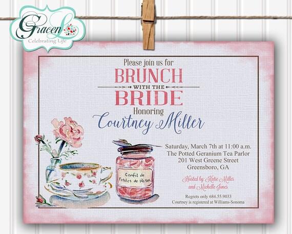 bridal luncheon invitation bridal brunch invitation bridal etsy