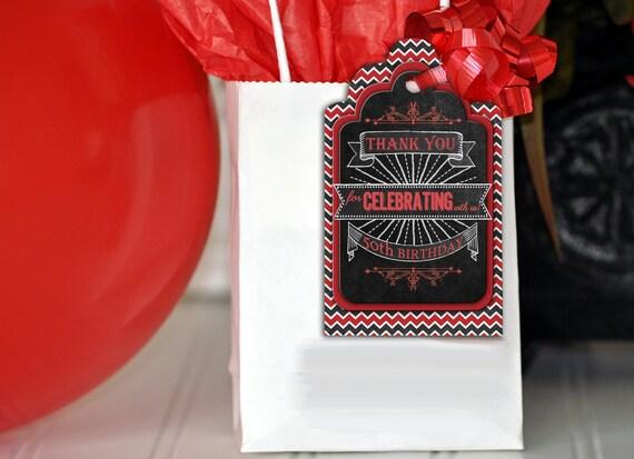 50th Birthday Gift Tags Bag