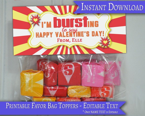 photograph regarding Starburst Valentine Printable named Clroom Valentines, Little ones Valentines, Valentine Take care of Bag, Starburst Valentine, Valentines Playing cards, Valentines Topper, Printable Valentines