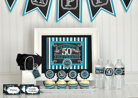 50th Birthday Party Package Decorations