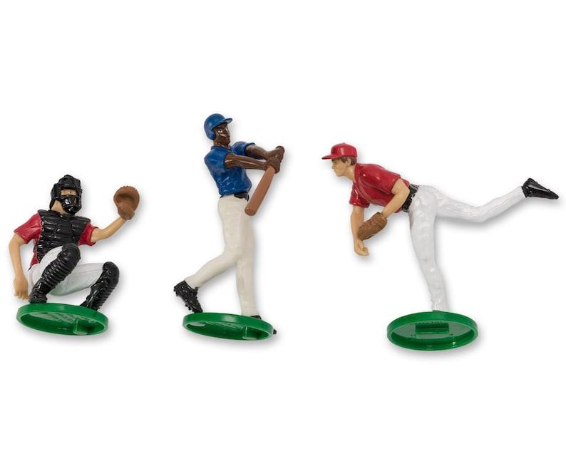 Baseball Cake Topper Baseball Team Cake Topper Mini Baseball Team Baseball Cake Idea Baseball Party Cake
