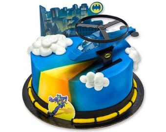 Batman Cake Topper/ Batman Cake Kit/ Batman Helicopter Cake Topper/ Batman Party