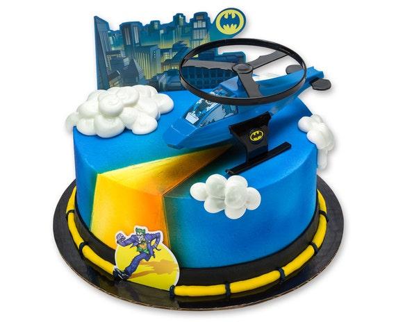 Batman Kuchen Deckel Batman Kuchen Kit Batman Hubschrauber Etsy