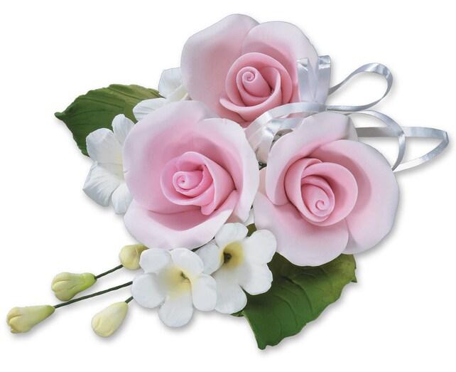 Gum paste baby pink rose cascade edible full rose cascade etsy image 0 mightylinksfo