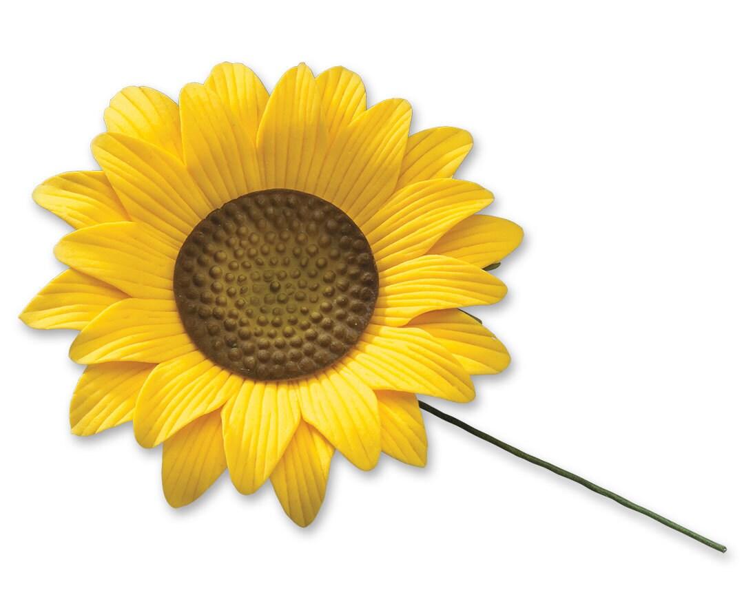 Gum Paste Sunflower Sunflower Cake Topper Edible Sunflower   Etsy