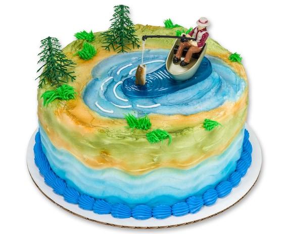 Fishing Cake Topper Fishermans Birthday