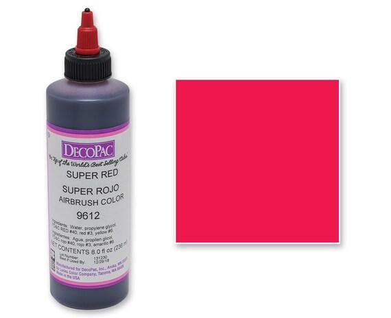 8 OZ Super Red Airbrush Premium Food Coloring/ Super Red Airbrush Food  Coloring/ Professional Super Red Airbrush Food Coloring
