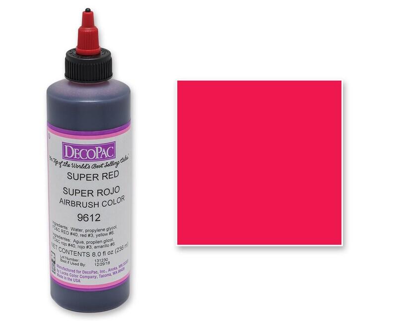 8 OZ Super Red Airbrush Premium Food Coloring/ Super Red   Etsy