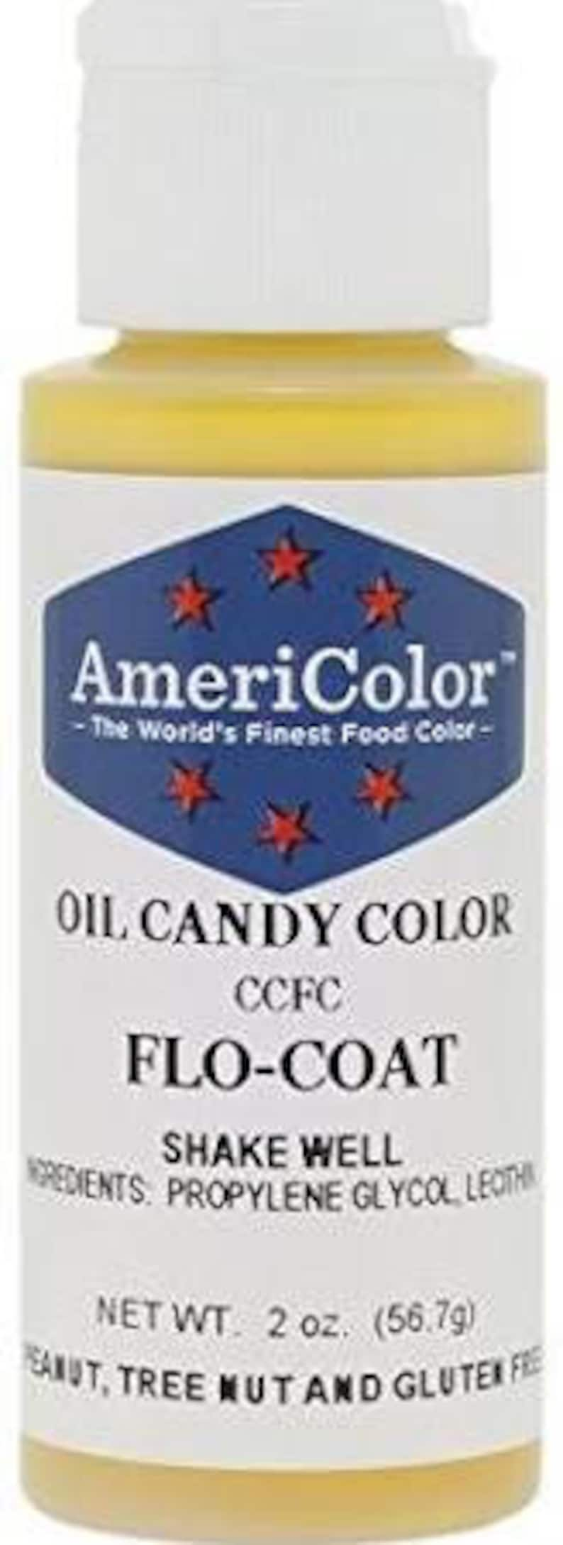 Flo-Coat Chocolate Coloring/DYI How to Color Chocolate/Oil Candy Coloring  Agent/Chocolate Food Coloring Formula/ AmeriColor 2 oz Flo Coat