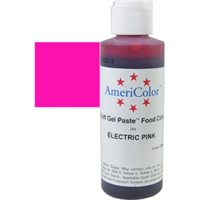 Electric Pink Food Coloring/ Neon Pink Food Coloring/ Americolor Soft Gel  Paste Food Coloring/Pink Batter and and Icing Color