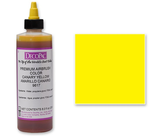 8 OZ Yellow Airbrush Premium Food Coloring/ Yellow Airbrush Food Coloring/  Professional Bright Yellow Airbrush Food Coloring