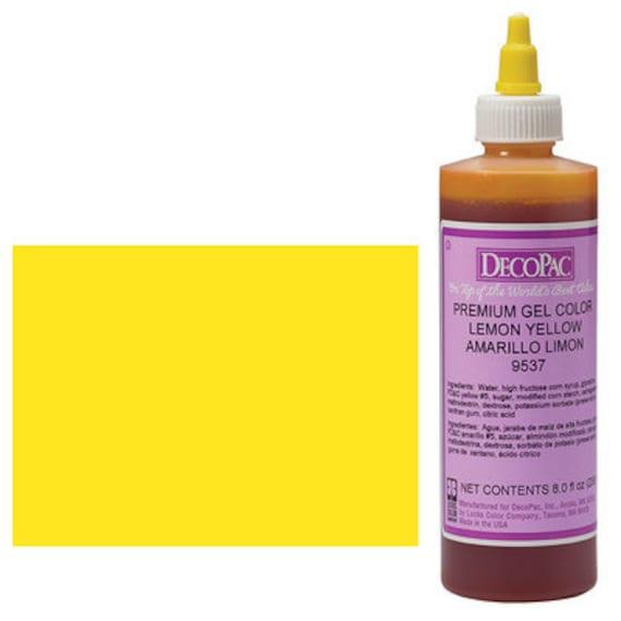 8 OZ Lemon Yellow Premium Food Coloring Gel/ Bright Yellow Gel Food  Coloring/ Professional Yellow Food Coloring