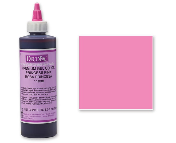 8 OZ Bright Pink Premium Food Coloring Gel/ Pink Blue Gel Food Coloring/  Professional Princess Pink Food Coloring