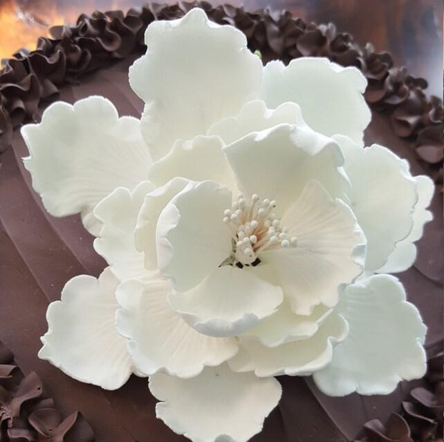 4 Large Garden Peony Cake Topper Edible Peony Cake Topper Gum