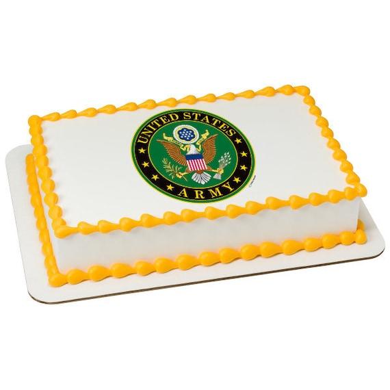 Usa Army Edible Image Usa Army Cake Edible Image Army Cake Etsy