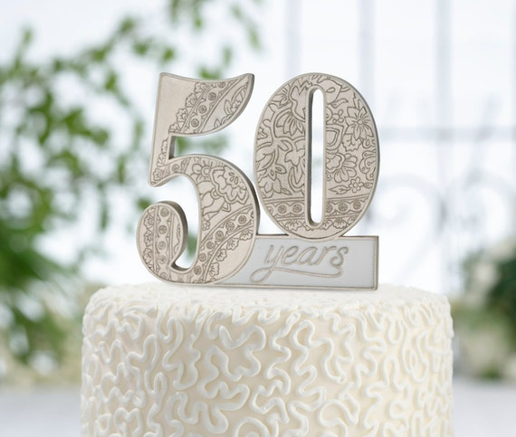 50 Years Cake Topper 50th Anniversary