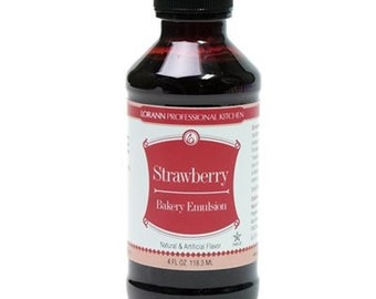 LorAnn Bakery Emulsion / Strawberry - 4 fl oz