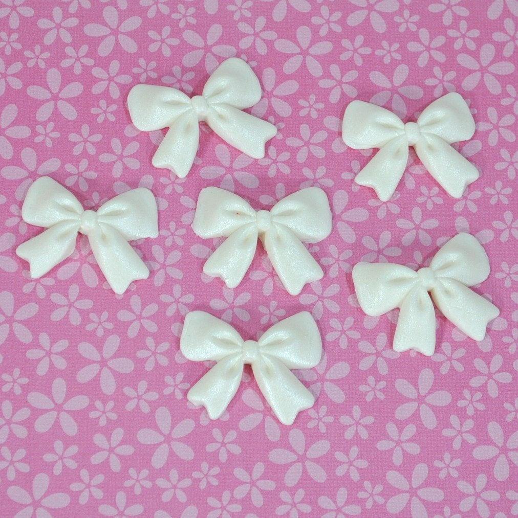6 PCS Edible Fondant Sugar Bows/ Edible Mini Bows/ Sugar Bows/ | Etsy