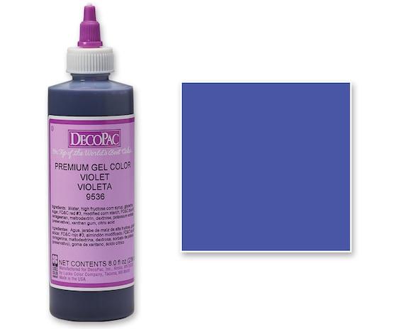 8 OZ Violet Purple Premium Food Coloring Gel/ Purple Gel Food Coloring/  Professional Purple Food Coloring