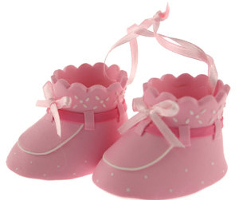 69996d4e2 Pink Baby Booties Cake Topper  Baby Shower Cake Topper  Pink