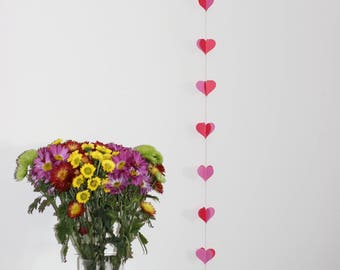 "Vertical 60"" Heart Garland"
