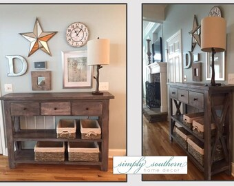 X Style with Drawers Console Table