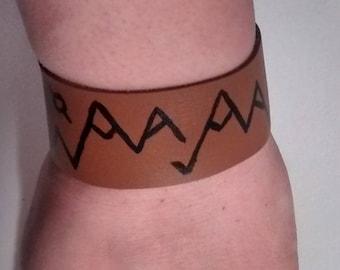 Leather Snap Bracelet - Mountain