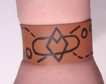 Leather Snap Bracelet - Diamond