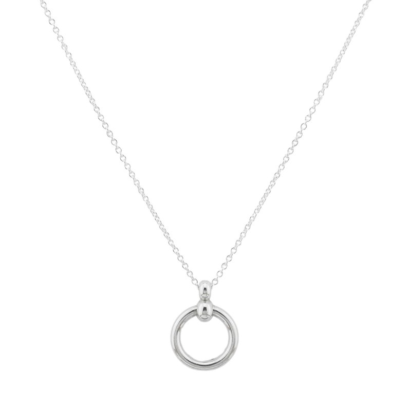 Ultra DISCREET Symbolic BDSM O Ring 925 Sterling Silver Slave Bondage Submissive Sub Necklace Day Collar ToBeHis