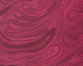 100 percent cotton fabric/red/marbled/crafts/quilting/apparel/by the yard