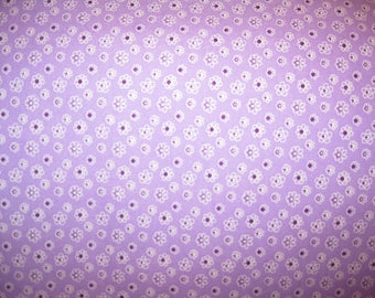 100 percent cotton fabric/purple/flowers/quilting/crafts/apparel/by the yard
