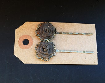 Beautiful handmade rose hairpins