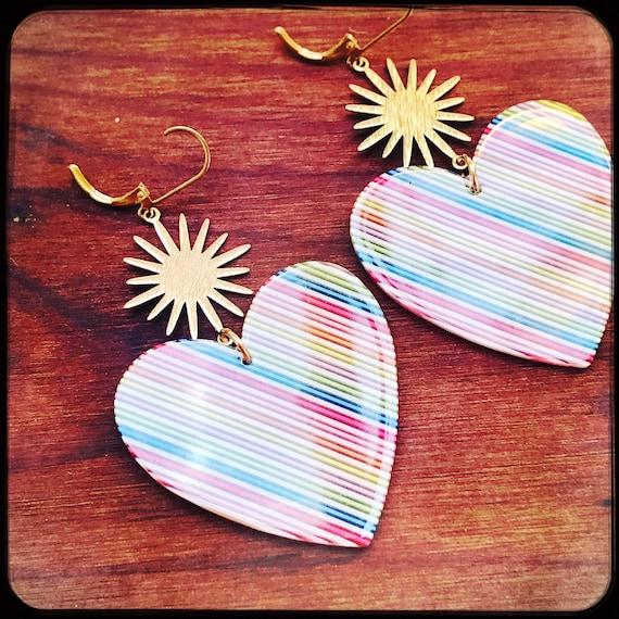 Flaming Rainbow Hearts