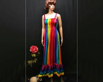 f3c2ffc98e2 Rainbow maxi sundress
