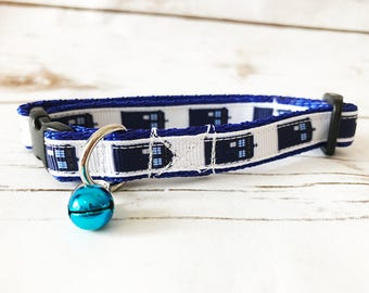 Police Telephone Box Inspired By Doctor Who, Dr Who And The Daleks Cat Kitten Puppy Collar