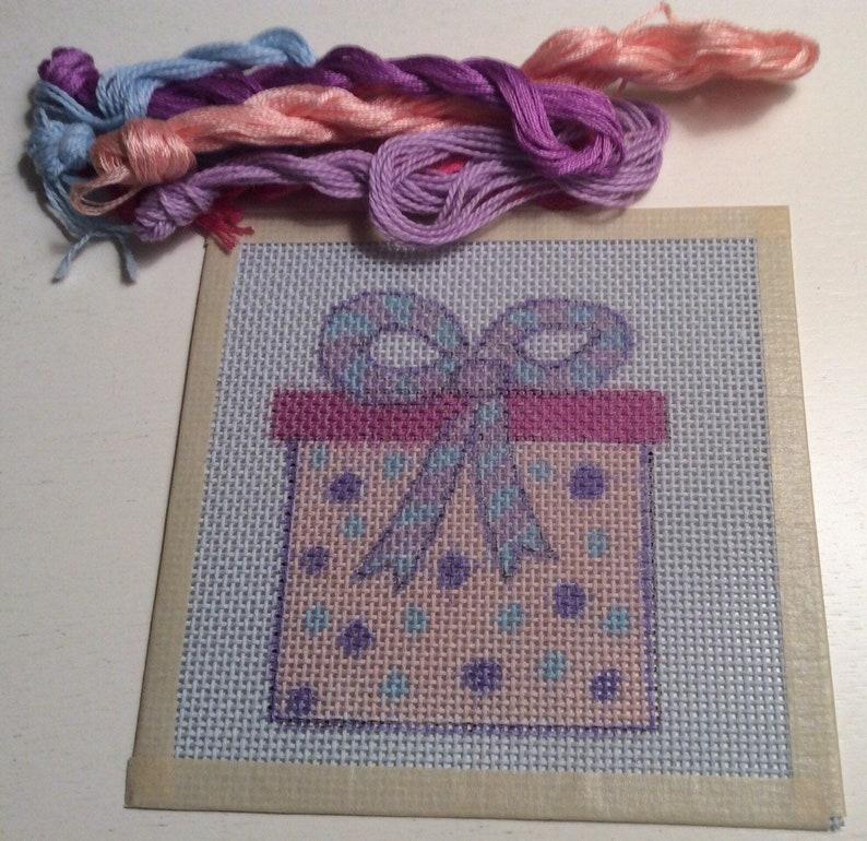 Christmas Gift Handpainted Needlepoint Canvas