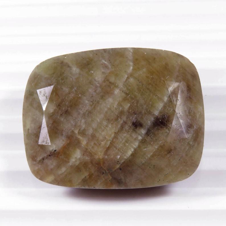 Fantastical Natural Sapphire Cut 30x38x12 mm Cushion Sapphire Cushion Rainbow Sapphire September Birthstone Loose Gemstones