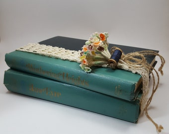 """Vintage Fictional Book Set by the Bronte sisters, """"Jane Eyre"""" written by Charlotte Bronte, """"Wuthering Heights"""" written by Emily Bronte"""