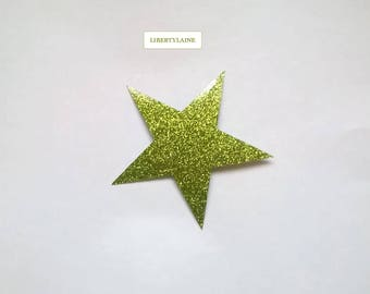 Applied fusible 10cms in flex anise star glitter