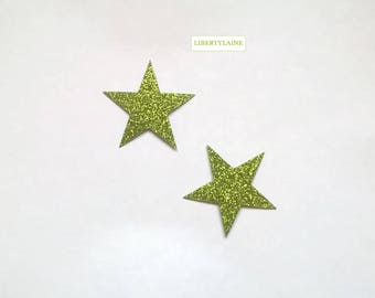 Applied fusible 2-5 cm in flex anise star glitter