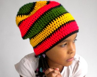 Rasta hat, dread tam, dreadlock hat, big slouchy beanie, Jamaica Africa clothing, hippie clothes