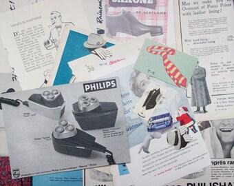 Vintage men's fashion and grooming scrapbook kit: pack of 27 vintage paper ephemera pieces For scrapbook, journaling, paper craft EP136B