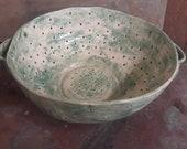 colander, handmade colander, pottery colander, handmade kitchen pottery, pottery, kitchen pots, unique pottery, large colander, pottery