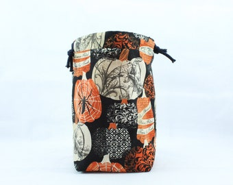 175f01740044d Pumpkins Two at a Time Sock sack bag with Zipper Notions Purse Divider.  JibbyrooSews. 5 na ...