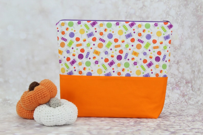 Trick or Treat Sweets Zip Bag Pouch