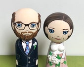 Personalised wedding dolls - approx 7 & 8 cm tall