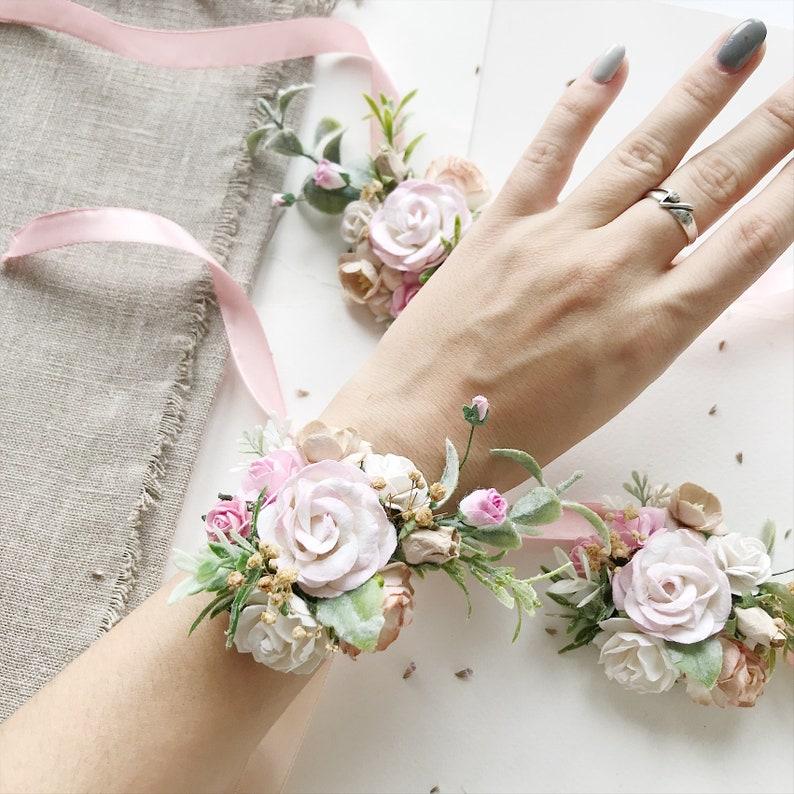 flower wedding crown Blush flower crown blush floral crown wedding floral crown bridal flower crown blush ivory bridal floral crown