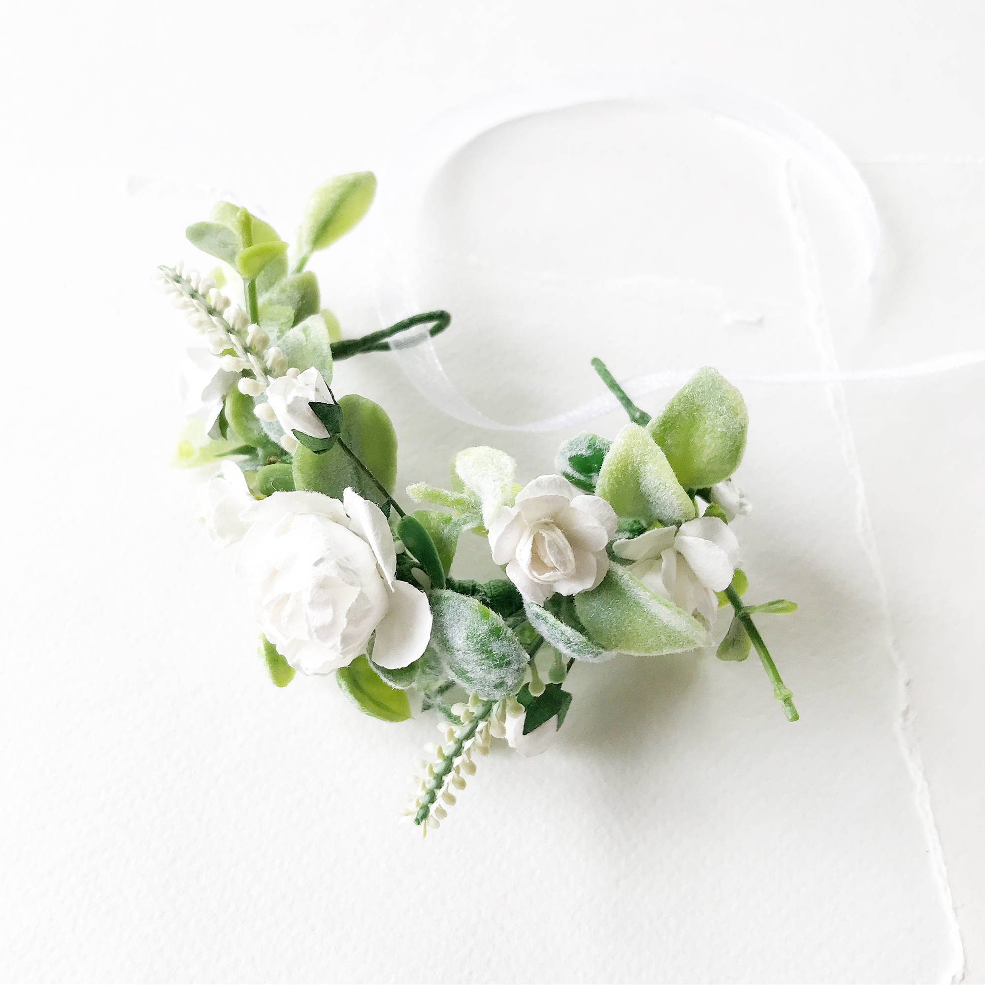 Ivory White Bridal Bracelet Flower Wrist Corsage Bridal Etsy