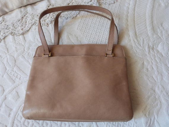 Vintage Jean Charles Paris leather hand bag handbag clutch  6e004899cd2ee