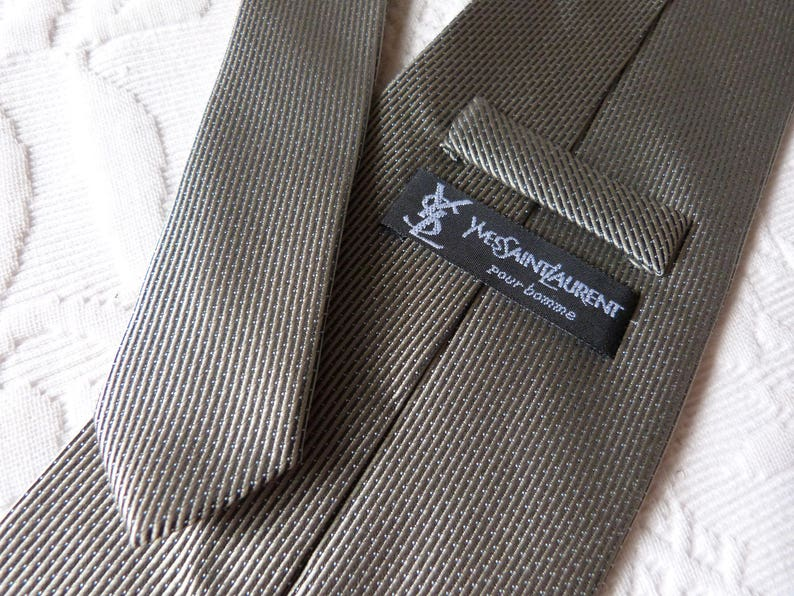 2febcbc25cd Vintage Yves Saint Laurent tie French silk mens tie made in | Etsy